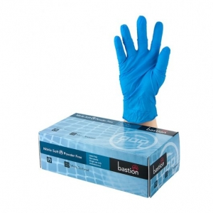 Gloves -  Bastion Nitrile P/F Medium blue