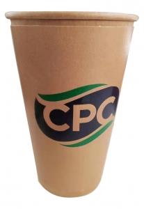 CUST Coffee Cups 12oz S/W (Kraft) x 1000