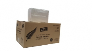 CPC Lunch 1 ply 1/8 Fold White