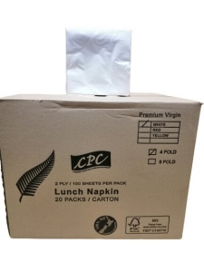 CPC Lunch 2 ply White 1/4 F