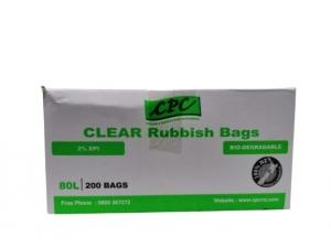 CPC R/Bag Tie 80L CLR 2% EPI
